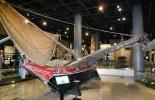 Микронезийская лодка.Музей этнологии. Осака
