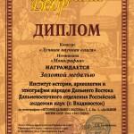 диплом история дв золото